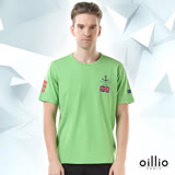 歐洲貴族oillio 短袖T恤 船錨印花 英倫旗幟 綠色