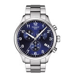 TISSOT CHRONO XL CLASSIC 霸氣暖男的風格時尚三眼計時腕錶-藍面+銀色鋼帶-T1166171104701