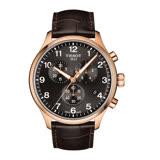 TISSOT CHRONO XL CLASSIC 霸氣暖男的風格時尚三眼計時腕錶-咖啡皮革+玫瑰金-T1166173605701