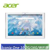 (福利品) ACER Iconia One 10 B3-A40 10.1吋 (MT8167/2G/16G/WiFi版) 白色-【送原廠保護套】