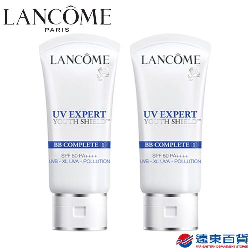 【原廠直營】Lancôme 蘭蔻 超輕盈UV BB霜SPF50/PA++++ 30mlX2(#01白皙透亮)