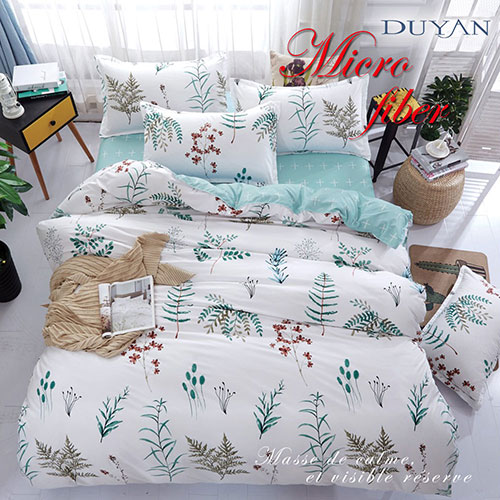 《DUYAN 竹漾》100%天絲絨雙人床包三件組-漢普斯花園 台灣製