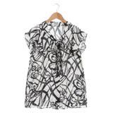 【EPISODE Studio】邂逅奢華荷葉袖造型上衣(線條黑)