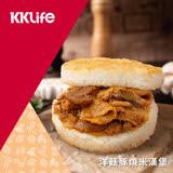 【紅龍】鮮香洋菇豚燒米漢堡 (176g/顆; 3顆/袋)