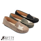 【Pretty】星星圖案莫卡辛豆豆平底鞋