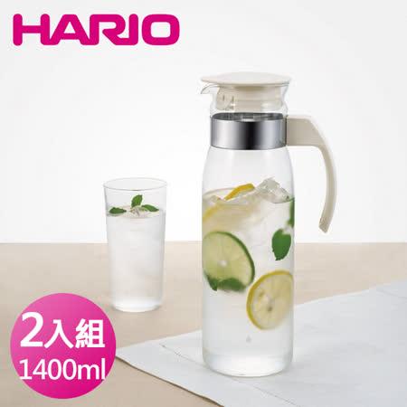 日本HARIO 耐熱玻璃冷水壺2入組