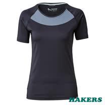 【HAKERS 哈克士】女款  Smart Skin Air 抗UV快乾排汗衫(隕石黑)