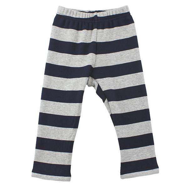 【愛的世界】pappa&ciccia 英格蘭男孩橫紋刷毛緊身長褲/1~3歲-中國製-