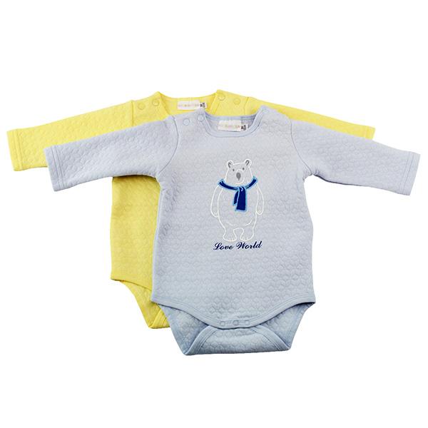 【愛的世界】北極熊針織提花連身衣2件包/3M~1歲-中國製-