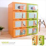 【MR.BOX】小鹿安迪 DIY組裝式 四層收納櫃 (兩色可選)/收納箱/整理箱/收納盒/衣櫥/衣櫃/鞋櫃