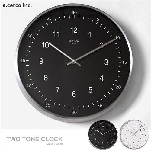 【a.cerco】TWO TONE 極簡風時鐘 (兩色可選)/掛鐘/鬧鐘/LOFT風/設計/工業風