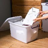 【MR.BOX】滑輪整理箱 M50L*3入/收納箱/抽屜櫃/衣物收納櫃/置物盒