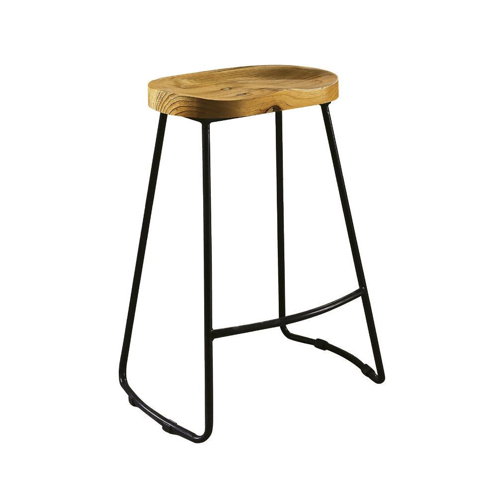 【AT HOME】工業風設計網背實木椅墊吧台椅(41*32*71cm)基爾