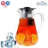 【Finum】德國品牌冷熱泡茶控制壺1.8L(黑)