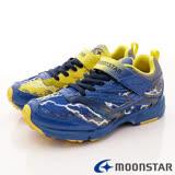日本月星機能童鞋--雙色競速運動款-(SSJ7965藍-19-25cm)