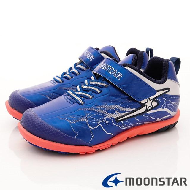 日本月星機能童鞋--防潑競速運動款-(SSJ8205藍-18-24.5cm)