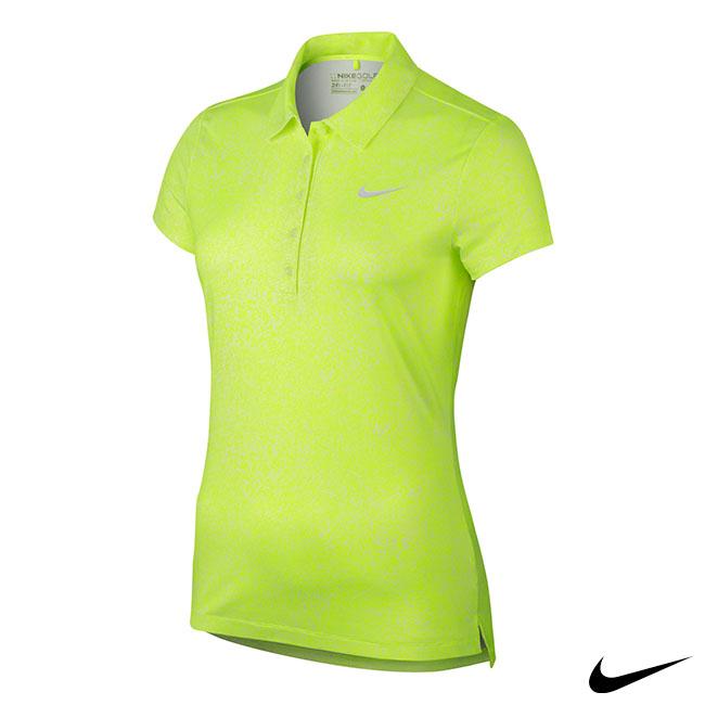 NIKE GOLF 女運動短袖POLO衫 螢光黃 802993-702