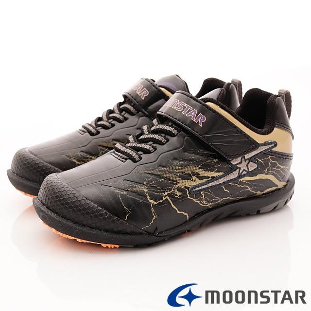 日本月星機能童鞋--防潑競速運動款-(SSJ8206黑-18-24.5cm)