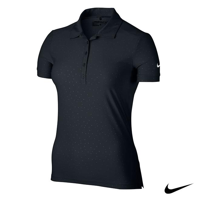 NIKE GOLF WMS ICON PRINT 女運動短袖polo衫(黑)803050-010