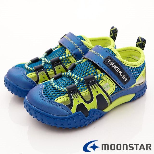 日本Carrot機能童鞋--兒茶素速乾鞋款-(KC19AB8藍-12.5-14.5cm)