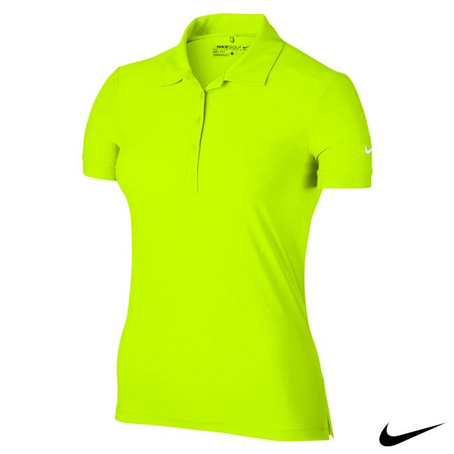 NIKE GOLF 女運動短袖polo衫 螢光黃 803050-702
