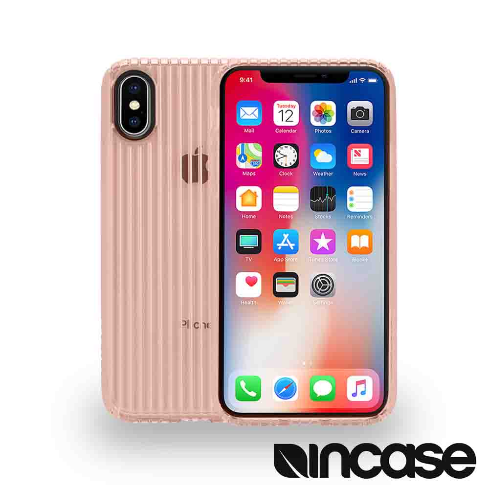 INCASE Protective Guard iPhone X 條紋彈性背蓋 (玫瑰金)