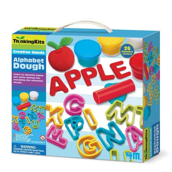 【4M】學齡前啟蒙系列-字母黏土工廠 Alphabet Dough 00-04714