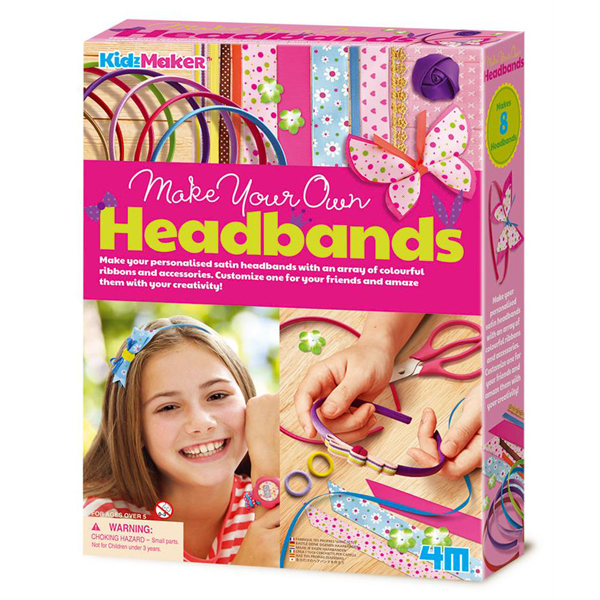 【4M】美勞創作系列-創意髮圈 Make your own Headbands 00-04721