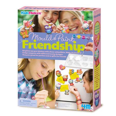 【4M】美勞創作系列-友情創意磁鐵組 Mould & Paint Friendship 00-04723
