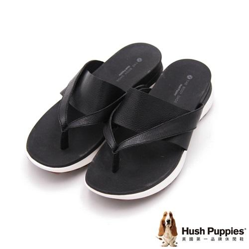 Hush Puppies IVA 時尚輕量涼拖 女鞋-黑