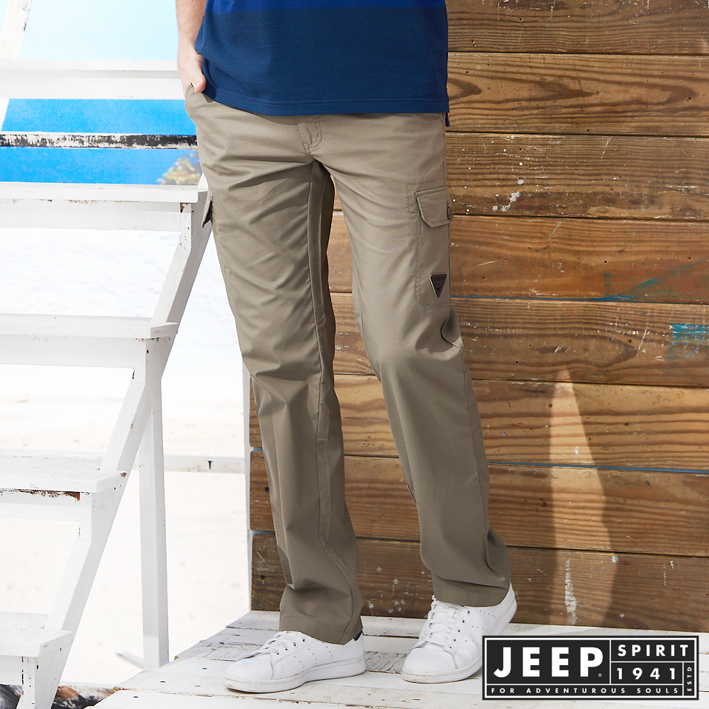 JEEP美式野練口袋工作長褲