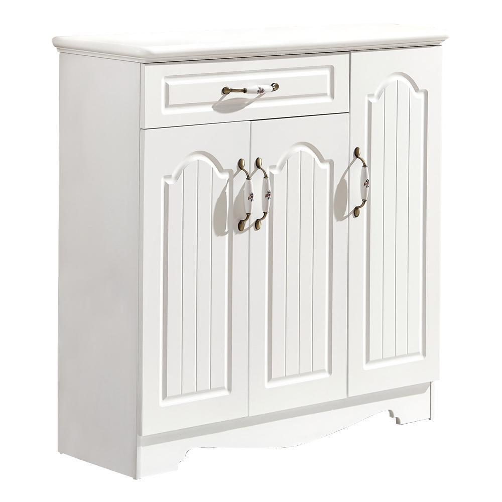 【AT HOME】北歐設計3.3尺白色鞋櫃(100*34*100cm)蕾拉