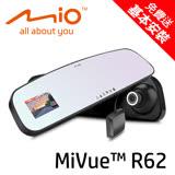 【MIO】MiVue R62 Sony高感光+GPS測速後視鏡行車記錄器★贈16G記憶卡★加贈冷氣孔磁吸手機架★
