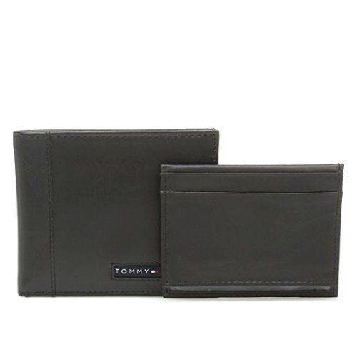 【Tommy Hilfiger】2018男劍橋Passcase黑色皮夾【預購】