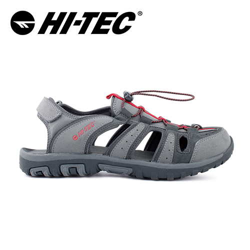 HI-TEC_水陸二棲休閒護指涼鞋(男)-灰_O006192056