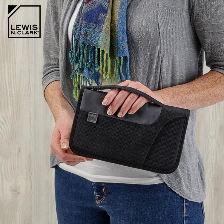Lewis N. Clark RFID屏蔽手提多 收納包 1249  城市綠洲  防盜錄、旅行收納、旅遊 、美國品牌