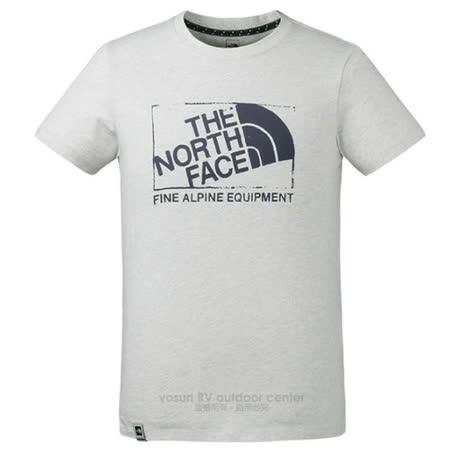 【美國 The North Face】男新款 FlashDry閃電快乾短袖.機能性吸濕排汗衣.運動圓領T恤/快乾纖維.柔軟易打理/3CIT 白
