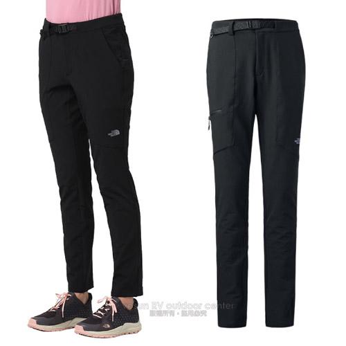 【美國 The North Face】女新款 防風防潑透氣休閒長褲.輕量機能登山健行褲