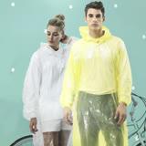 【達新牌】新款 ONE SIZE便利型透明雨衣 (黃/透明隨機色)