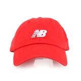NEWBALANCE 棒球帽-帽子 鴨舌帽 慢跑 路跑 遮陽 防曬 NB 紅白 F