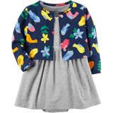 美國 Carter / Carter\'\'\'\'s 嬰幼兒春夏外套洋裝包屁衣組 小鳥歌唱(CTGSCD18-004)