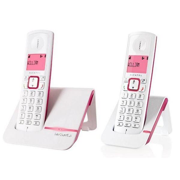 ALCATEL阿爾卡特 無線電話子母機 Versatis F200Duo 粉色