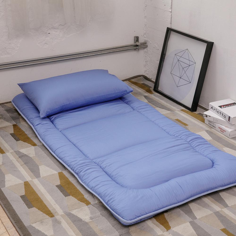 LAMINA 超值組純棉日式床墊+床墊布套+枕套(單人)