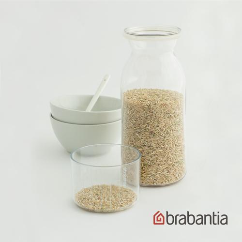 【荷蘭Brabantia】粉彩量杯曲線儲存罐1.3L-透明
