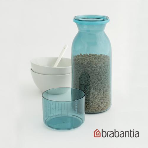 【荷蘭Brabantia】粉彩量杯曲線儲存罐1.3L-薄荷藍