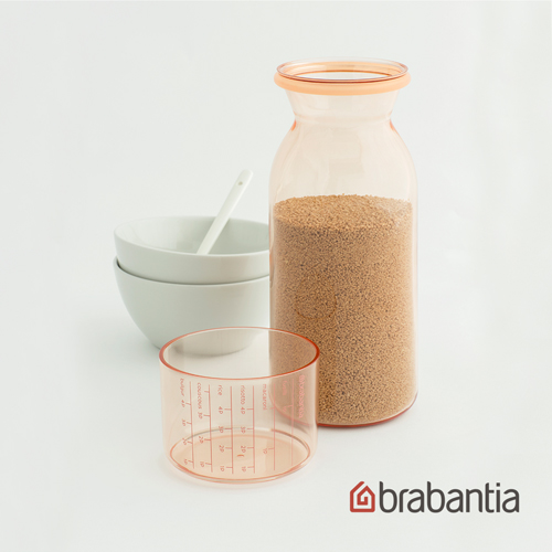 【荷蘭Brabantia】粉彩量杯曲線儲存罐1.3L-粉紅