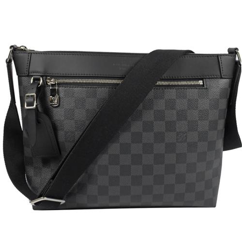 Louis Vuitton LV N40003 Mick PM 黑灰棋盤格紋斜背信差包/郵差包