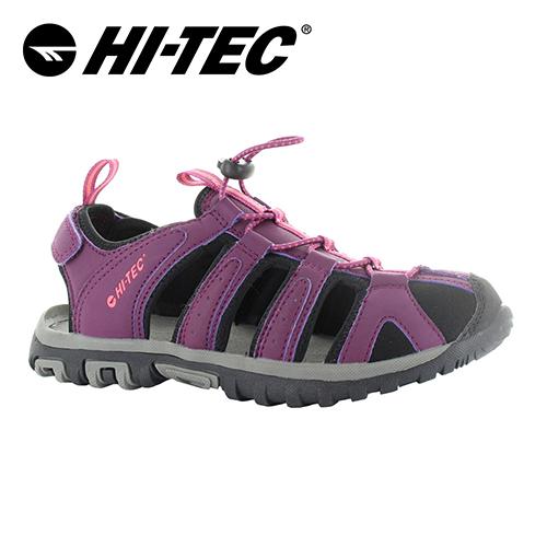 HI-TEC_水陸二棲休閒護指涼鞋(女)-紫_O006193090