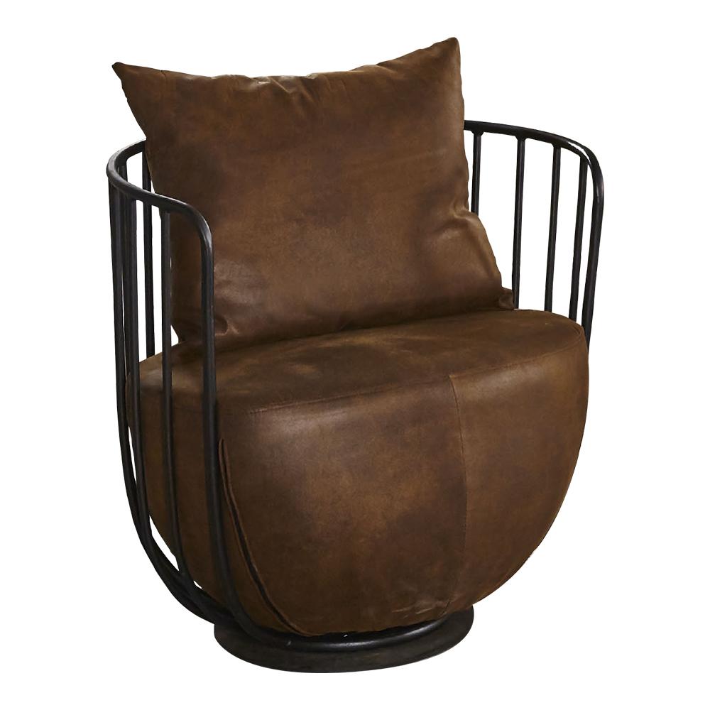 【AT HOME】工業風設計仿舊柵欄式鐵藝仿舊咖啡布沙發椅(71*59*67cm)文樂