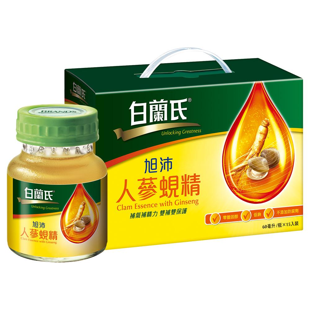 白蘭氏 旭沛人蔘蜆精15入提把式禮盒(60ml/共15瓶)